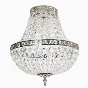 Bathroom Chandeliers - Nickel Empire Style Bathroom Chandelier With Crystals
