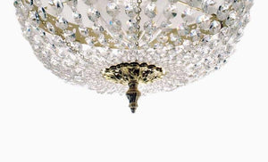 Bathroom Chandeliers - Polished Brass Bathroom Chandelier - Low Ceilings