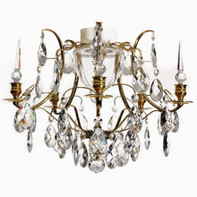 Bathroom Chandeliers - Polished Brass Bathroom Chandelier With Crystals Spears With Crystal Almonds
