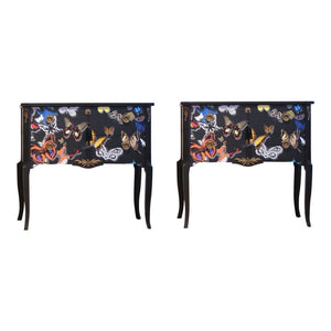 (217-2) Classic Louis XV Style Butterfly Chests (A Pair) (DaVinci)