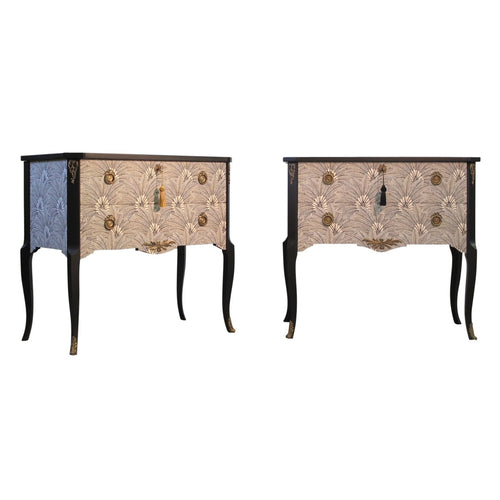 (205-2) Brasilia Louis XV Style Chests (Pair) (DaVinci)