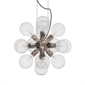 Contemporary Chandelier - Contemporary Brass Chandelier With Globes 52cm X 52cm X 52cm