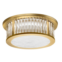 Polished Brass Ceiling Light with Crystals Rods