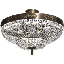 Low Ceiling Plafonds - Low Ceiling Crystal Plafond In Dark Brass 60cm X 60cm X 38cm