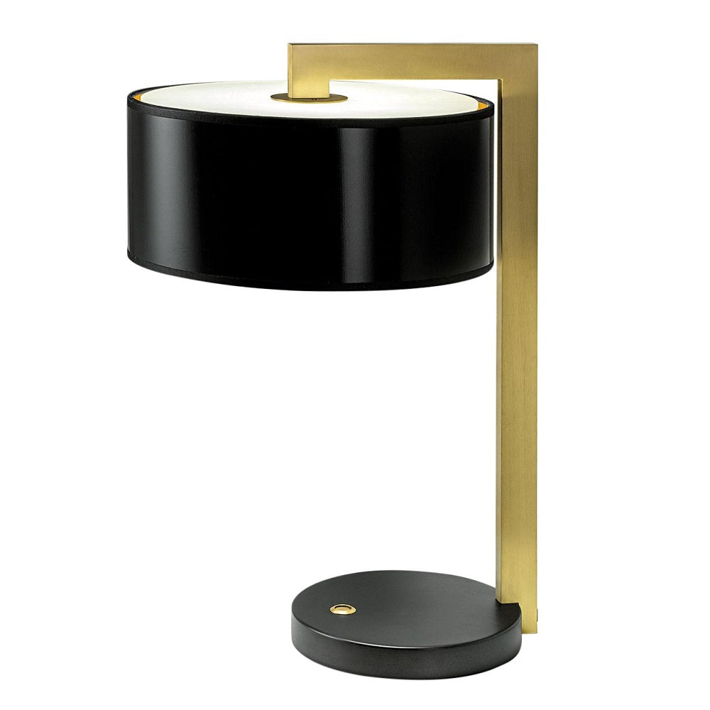 Deco black bronze with English brass table lamp with shade