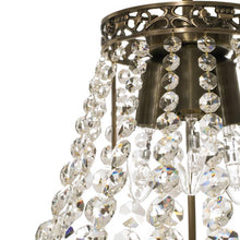Empire Chandelier - Dark Brass Empire Style Chandelier With Crystals