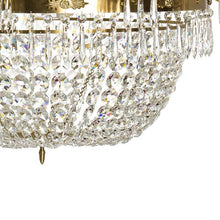 Empire Chandelier - Light Brass Empire Style 10 Arm Chandelier With Crystal Octagons