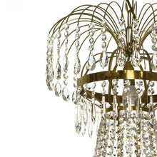 Empire Chandelier - Light Brass Empire Style 8 Arm Chandelier With Crystal Octagons