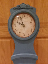 Reproduction Mora Clock in Swedish Blue - face