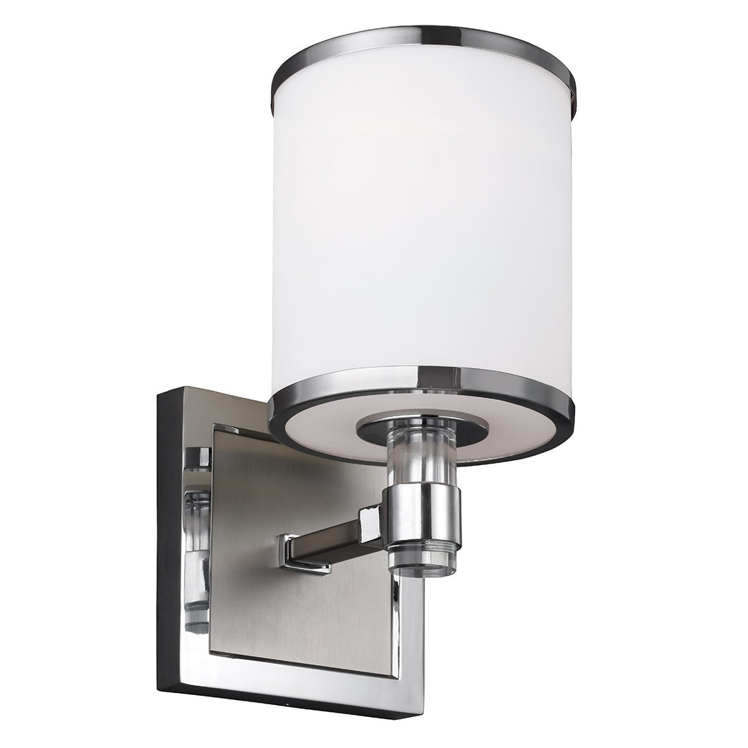 Satin Nickel/Chrome Wall Light