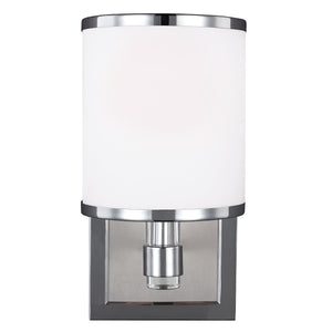 Satin Nickel/Chrome Wall Light - detail