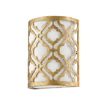 Artisan distressed gold wall light