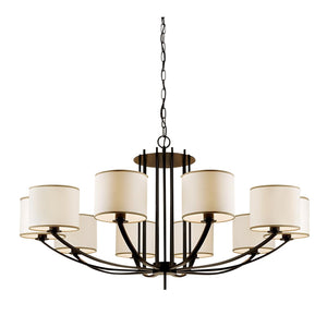 Glasgow 10 arm pendant light