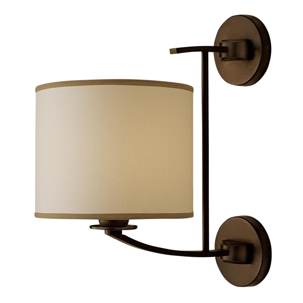 Glasgow penny bronze wall light with shade