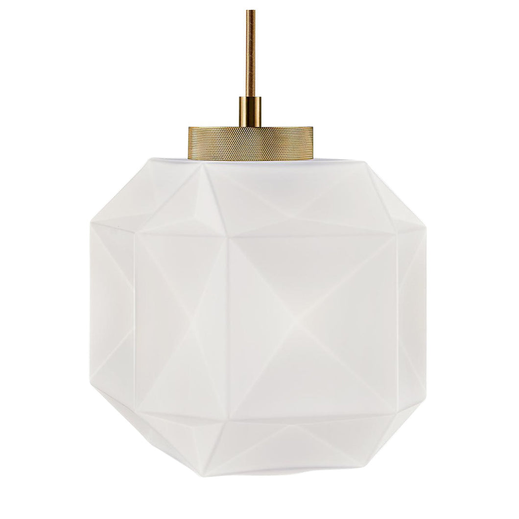Opal Coloured Glass pendant light