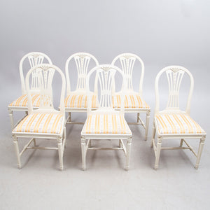 Gustavian Dining Table and 6 Chairs - ex display - UK delivery only