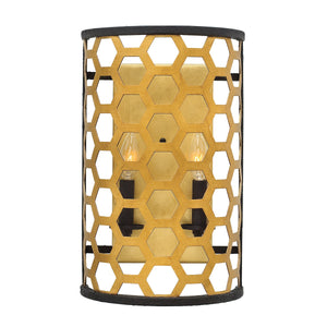 Honeycomb Gold Wall Light