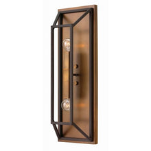 Black bronze double wall light - side
