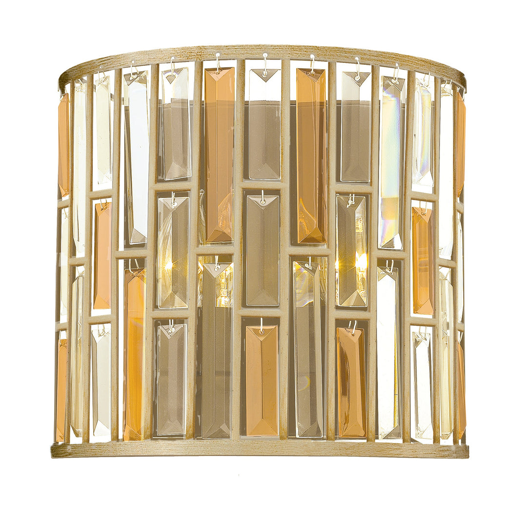 Silver leaf wall light