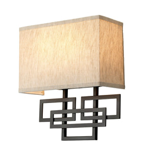Oil rubbed bronze Patterned Wall Light - lamp