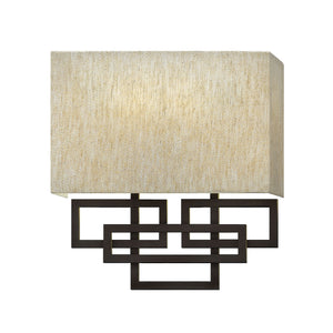 Oil rubbed bronze Patterned Wall Light - detail