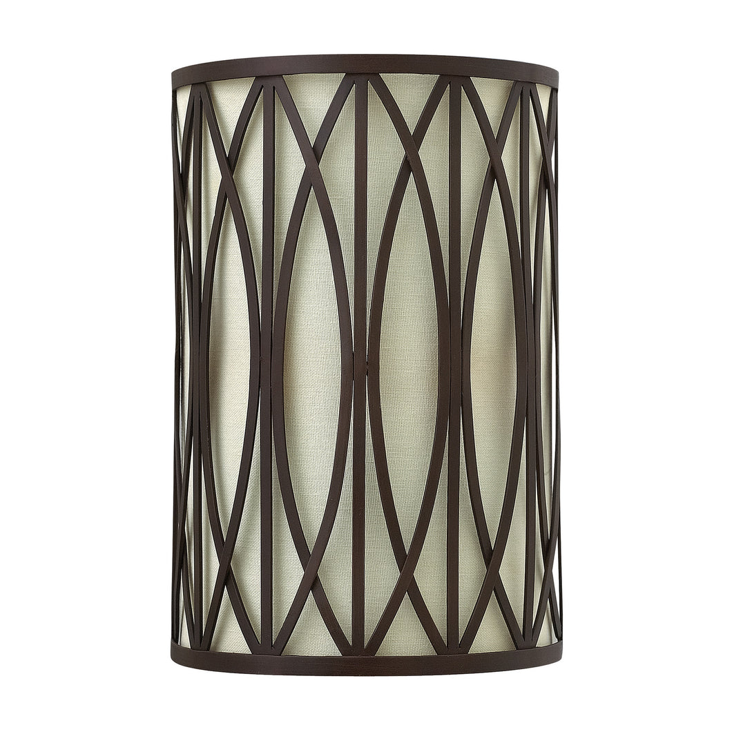 Dark bronze wall light