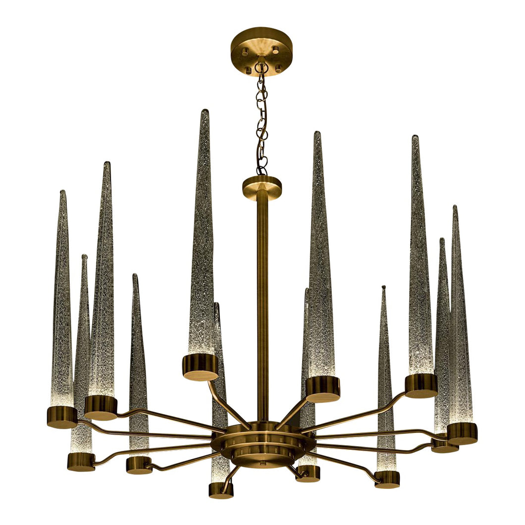 English brass clear glas pendant light