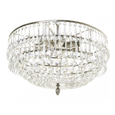 Modern chandelier with crystal icicles