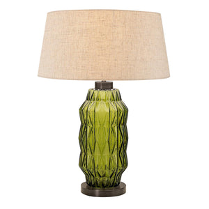 Laguna column table lamp in olive colour