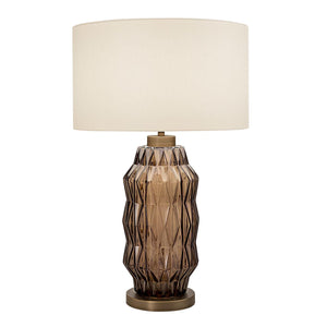 Laguna column table lamp in mocca colour