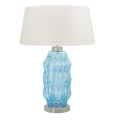 Laguna column table lamp in aqua colour