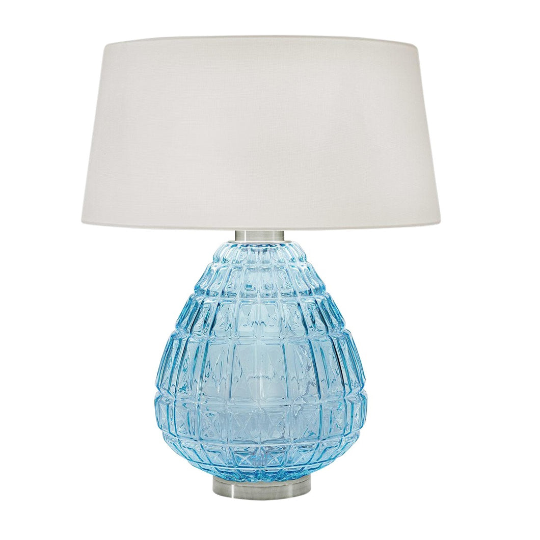 Laguna table lamp in aqua colour