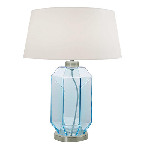 Laguna hexa table lamp in aqua colour