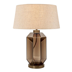 Laguna hexa table lamp in mocca colour