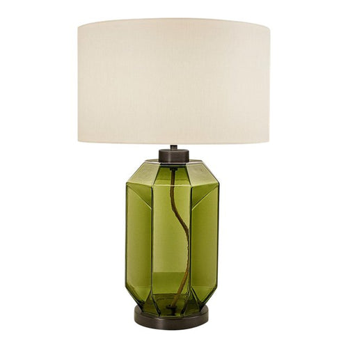 Laguna hexa table lamp in olive colour