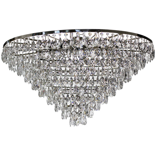 Low Ceiling Plafonds - Low Ceiling Large Crystal Plafond In Nickel 120cm X 120cm X 78cm