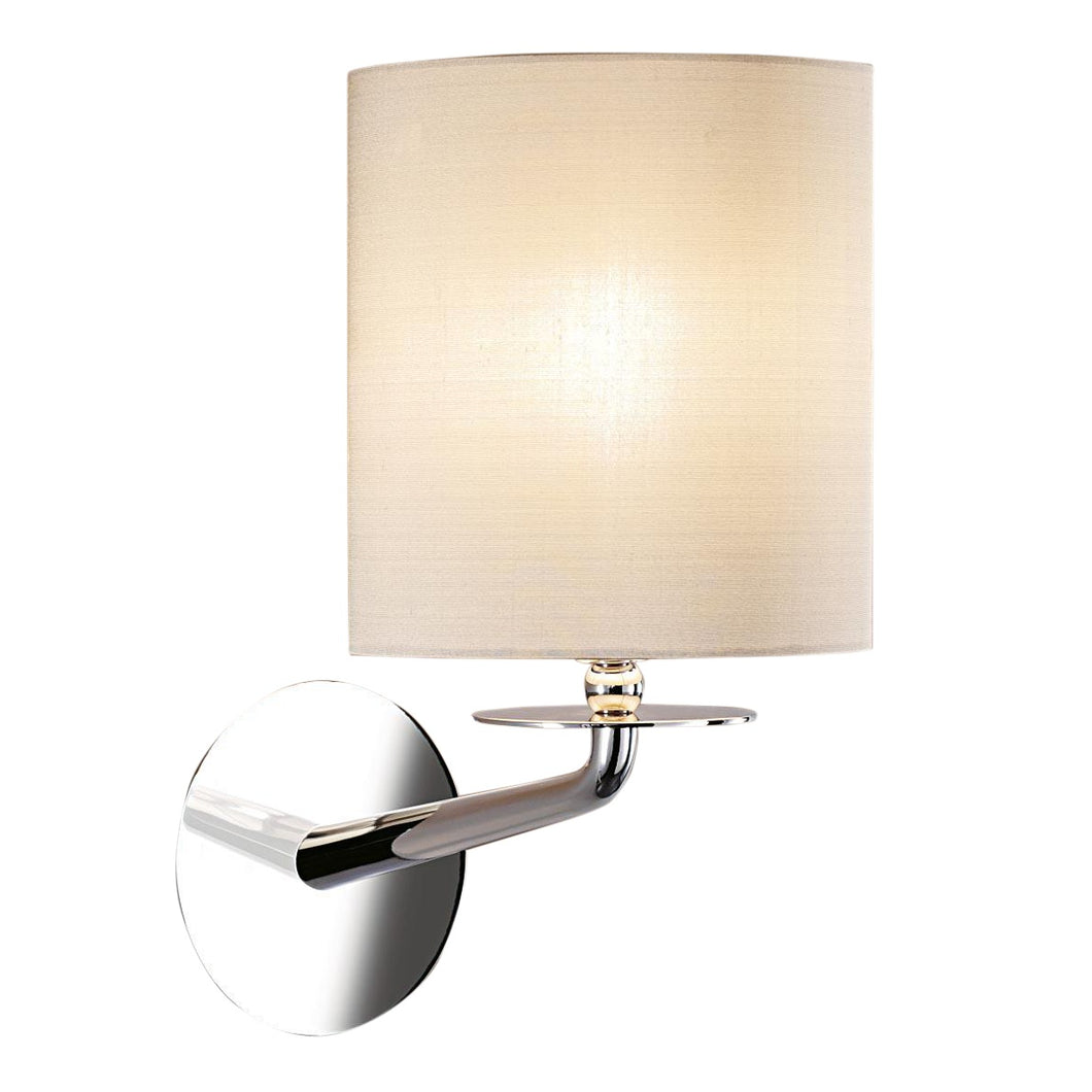 London polished chrome wall light