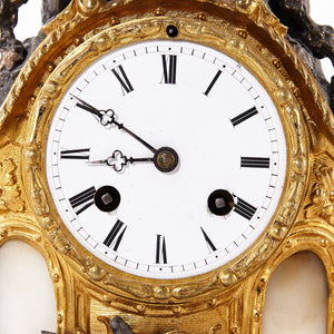 mantel clock - face
