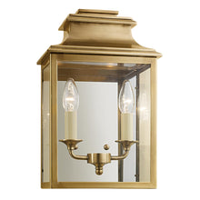 Mayfair wall lantern in antique brass