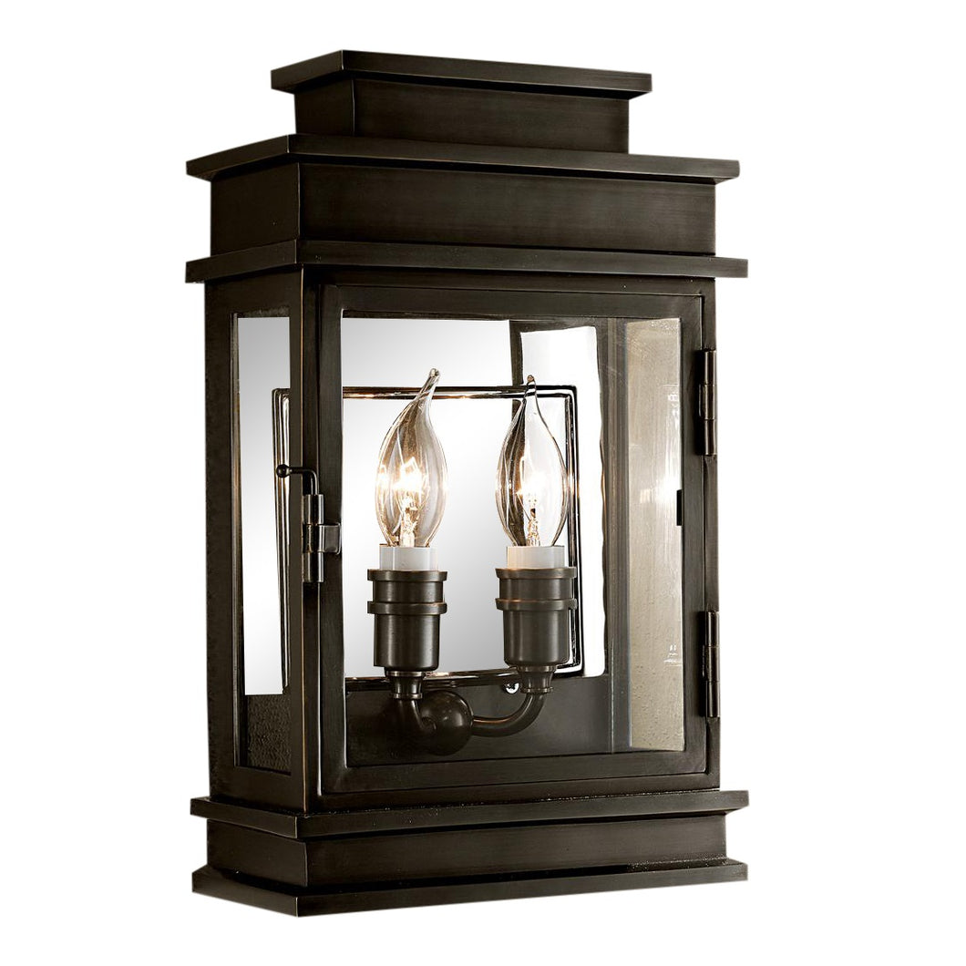 Mayfair wall lantern in black bronze