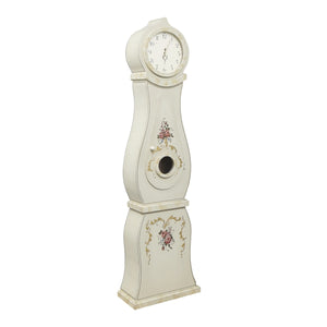 Swedish Mora Clock with Floral Patterns - side