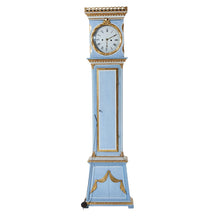 Original blue painted Mora Clock