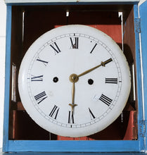 Blue Mora clock face details