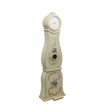 Mora Clock with floral painted details - side