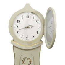 Mora Clock with floral painted details - face