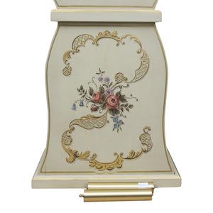Mora Clock with floral painted details - base