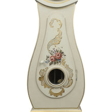 Mora Clock with floral painted details - painted detailing
