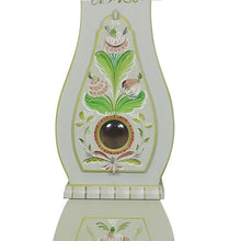 Mora Clock in Grey with Floral Details - body