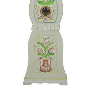 Mora Clock in Grey with Floral Details - base