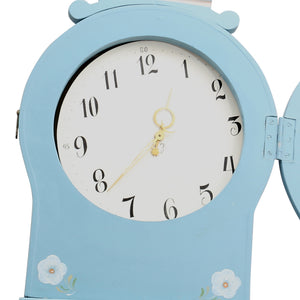 Mora Clock in Blue - face